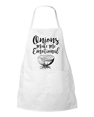 ArthuereBack Funny Food Apron ONIONS Maak ME EMOTIONAL Keukengerei kookschort Gift Schort met Zakken Schort Grill Schort kookkleding Ui