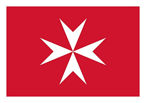 magFlags Flagge: Small Malta | Querformat Fahne | 0.7m² | 70x100cm » Fahne 100% Made in Germany