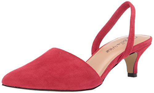 Bella Vita Women's Sarah Slingback Dress Shoe Pump, Red Kidsuede Leather, 6.5 2W US