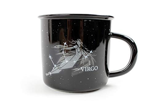 Stargazer VIRGO Astrology Camp Mugs by Creature Cups   Ceramic Horoscope 13.5 Ounce Cups with Traits Revealed Inside   Birthday Constellation Signs   Holiday Gift for Coffee & Tea Lovers