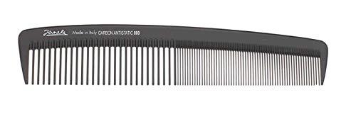Jäneke großer Damenkamm 55800 Carbon-Kamm 22,5 cm (antistatisch) Haarkamm feine und weite Zahnung (800)