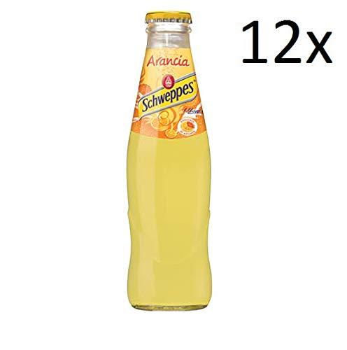 12x Schweppes Arancia Orangenlimonade Glas 18 cl erfrischend