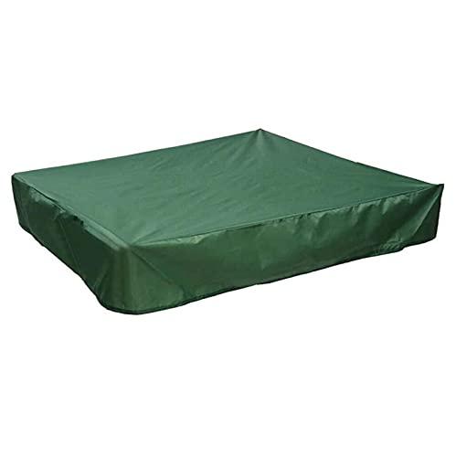 HMYLI Copertura di Sandpit, Copertura di Sandbox Anti UV Impermeabile Verde con Cordoncino per Sabbia, Piscina e mobili, Copertura della Piscina Quadrata,120 * 120cm