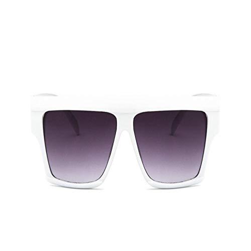 Sunglasses Luxus Sonnenbrille Frauen Fett Rechteck Schmale Schattierungen Übergroße Sonnenbrille Für Männer Weibliche Sonnenbrille Uv400 Weißgrau