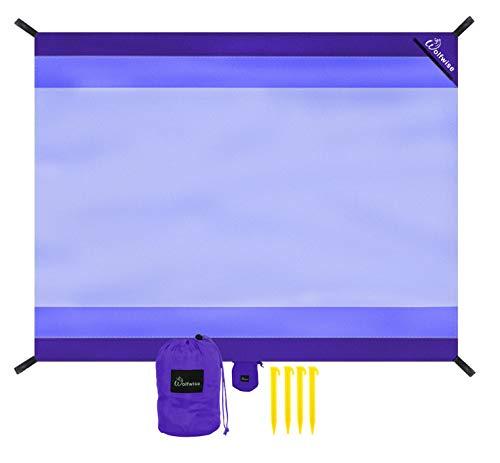 telo mare waterproof WolfWise 270 x 210 cm XXL Tappetino da Spiaggia