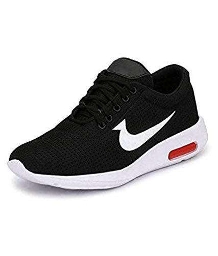 Ethics Men's Ultra Lite Mesh (Black/Red) Casual Sports Shoes for Men's (10 UK/India, R Black)
