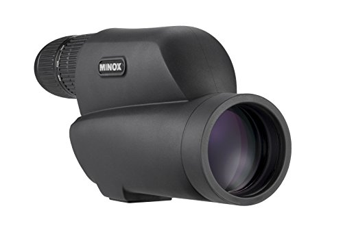 MINOX MD 60 Z Spektiv – Extrem kompaktes schwarzes Spektiv mit Geradeeinblick & stufenloser 12-40-facher Vergrößerung für Naturbeobachtung – Taschenspektiv inkl. Bereitschaftstasche aus Nylon