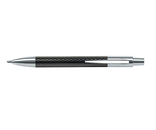 allpremio® Kugelschreiber CARBON Design Optik Senator, Druckkugelschreiber aus Metall mit Clip | Schreibfarbe BLAU XB G2 Mine dokumentenecht ISO 12757-2 | Leichtlauftinte für angenehmes Schreiben