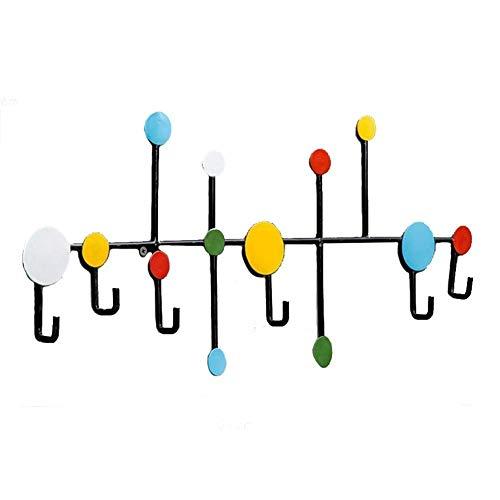 Kapstok Stand wandkapstokken Retro Iron Door haak hanger muurhaken Kapstokhaken Rack hoedenhaken Ingang Creative (Kleur: B) LQH (Color : Multicolored)