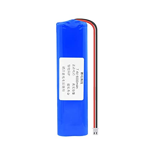 WSXYD Batería De Litio De 7.4v 3000/6000/9000mah 18650, Paquete Recargable con Enchufe Xh 2.54mm DC 5.5x2.1mm para Banco De Energía DIY 6000mAhXH2.54mm