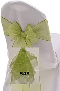 Best turquoise organza chair sashes Reviews