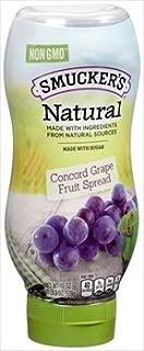 Smucker's Natural Concord Grape Squeeze Bottle Fruit Spread 19 oz