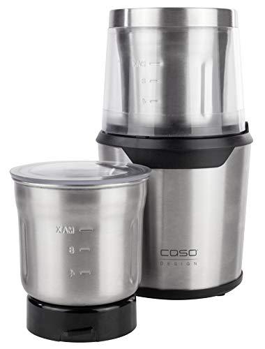 CASO UZ 200 – Design Multizerkleinerer, elektrischer Zerkleinerer, Behälter, Schlagmesser und Gehäuse aus langlebigem Edelstahl, Ideal als Zerkleinerer und Mühle für Nüsse, Gemüse, Obst, Kaffee, etc.