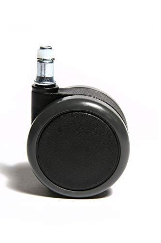 Topstar Rollenset (Set = 5 Rollen) 6990, Große Design-Hartbodenrollen, Bürostuhlrollen, Stiftgröße 11mm, Durchmesser 65mm