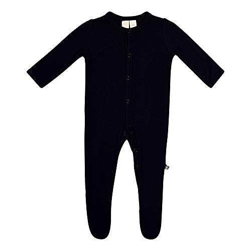 KYTE BABY Unisex Soft Bamboo Rayon Footies, Snap Closure, 0-3 Months, Midnight