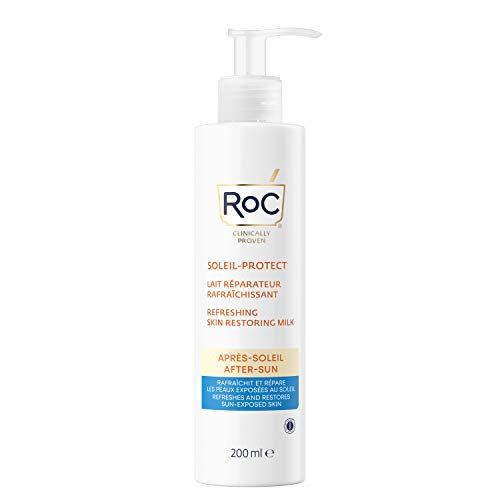 RoC - Soleil-Protect Latte Ristrutturante Doposole - Raffreddante e Idratante - Ripristina la Pelle Esposta al Sole - 200 ml