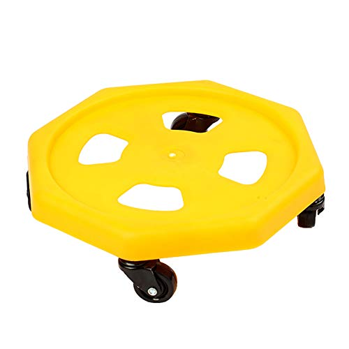 Wgwioo Universal Abdominal Roller Slider Four Wheel Body Strength Core Exerciser for Men and Women,Yellow,2PCS