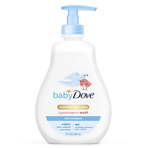 Baby Dove Tip to Toe Baby Wash and Shampoo For Baby's Delicate Skin Rich Moisture Washes Away Bacteria, Tear-Free and Hypoallergenic 13 oz