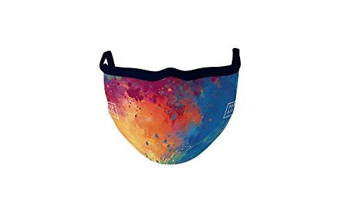 PHRASE 1 by FotoPremio Mund-Nasen-Maske 3-lagig in bunt | Gesichtsmaske bis 60°C waschbar und wiederverwendbar | Atemmaske hergestellt in der EU