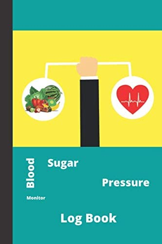 Blood Sugar Pressure Monitor Log Book What Blood Sugar Pressure is Normal High Low Daily 2 years product image