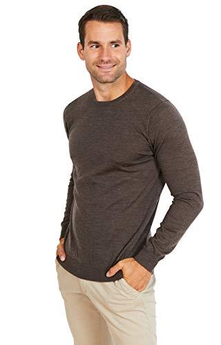 Jack Stuart - Jersey con Cuello Redondo para Hombre, 100% Lana Extrafina de Merino