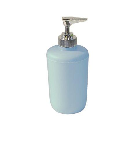 MSV 140994Seifenspender, Kunststoff Chrom/Polypropylen hellblau 2905C 310ml