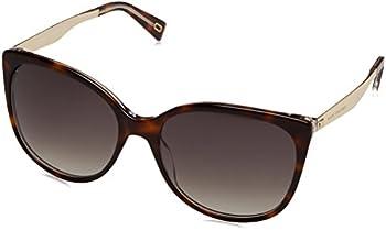 Marc Jacobs Women's Dark Havana/Gold-Tone Butterfly Sunglasses