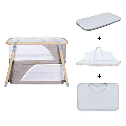 Fantastic Prices! RRH-Cribs Portable Fold Crib Travel, Multifunction Bionic Two Layers Newborn Game ...