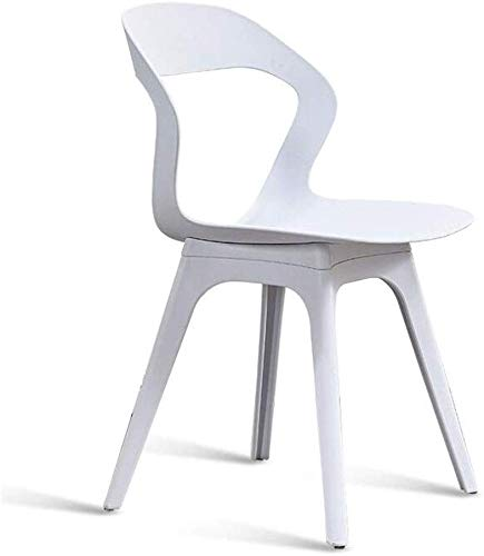 QTQZDD Streamline Design Modern Dining Side Chairs Kunststof stoel Patio Tuinstoelen Kruk (kleur: grijs) 2 2
