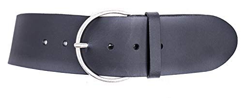 Vanzetti Hollywood Boulevard 60mm Round Leather Belt W75 Black