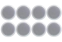 top rated NEW PYLE PDIC81RD 8 inch 1000W round wall and 2 pairs of ceiling speakers 2021