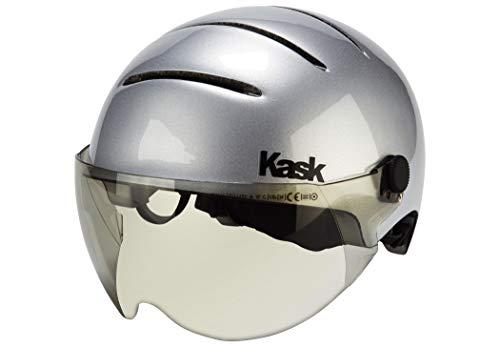 Kask Lifestyle Helm Inkl. Visier Argento mattsilber Kopfumfang 59-62cm 2020 Fahrradhelm