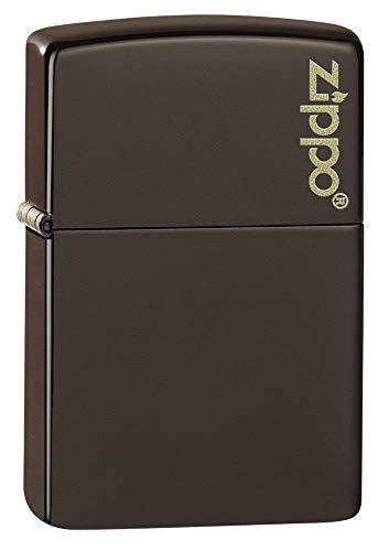 ZIPPO – Brown Matte Zippo Logo – Sturmfeuerzeug, nachfüllbar, in hochwertiger Geschenkbox