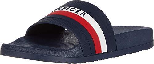 Tommy Hilfiger Men's Riker Slide Sandal, Dark Blue, 11