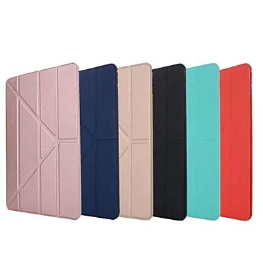 HL Cases/Covers Funda para iPad Pro 10.5 / iPad (2017) Origami Un Color Dura Silicona para iPad Air/iPad 4/3/2 / iPad Mini 3/2/1 (Color : Negro, Modelos Compatibles : iPad Mini 5)
