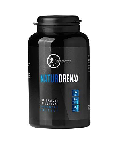 Be Perfect - Natur Drenax - Integratore Alimentare Di Origine Naturale - Funzione Depurativa e Drenante Contro Gonfiore e Ritenzione Idrica - Made in Italy - Detox - Senza Glutine - 120 Capsule