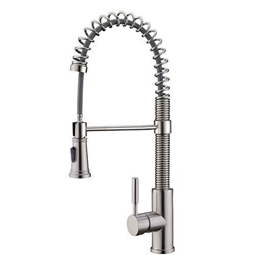Lowest Price! Kitchen Faucet, Delle Rosa Kitchen Faucet with Pull Down Sprayer, Lead Free Brass Kitc...