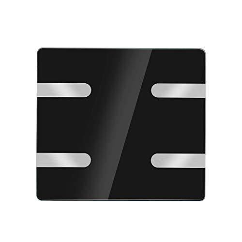 Básculas Digitales Básculas de baño de precisión Medida de Peso BMI Grasa Corporal Báscula Inteligente Analizador Ultra Delgado Básculas de baño Monitores de diagnóstico y Salud (Color : Black)