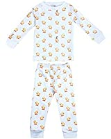 giggle Baby and Toddler Pajamas - Gender Neutral Tee and Pant 2 Piece Set, 100% Peruvian Pima Cotton, Soft and Snug - Duck Pattern, 2T