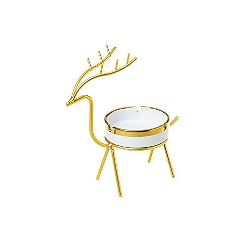 Cenicero de regalo Cenicero de cigarrillos de cerámica, al aire libre en el interior, bandeja de cenizas, bandeja de ceniza de fumar de escritorio para la decoración de la oficina en casa Cenicero cas