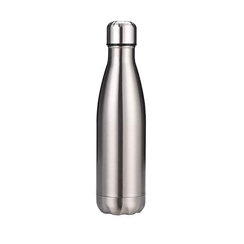 1 unid doble acero inoxidable botella de agua alta capacidad termo 500ml