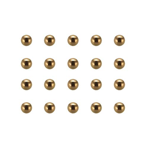 uxcell 6mm Precision Solid Brass Bearing Balls 100pcs