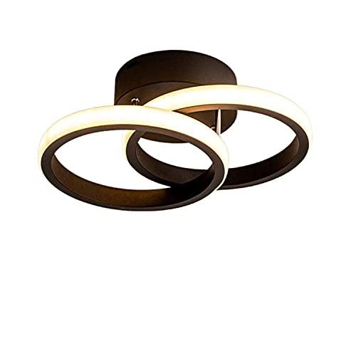 BBZZ Luces de techo LED con diseño de anillo de luces de techo, 2 paneles LED incorporados, modernas luces de techo para sala de estar, dormitorio y pasillo (blanco cálido)