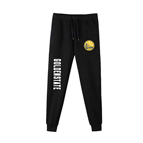 Uomini Pantaloni della Tuta NBA Basketball Formazione Pantaloni Casuale Comodo dei Lakers Kobe Bryant Lebron James Michael Jordan Running Pants Golden State Warriors-S