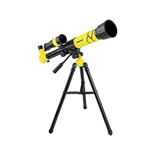 Astronomisches Teleskop, HD Nachtsicht-Zoomteleskop,Spielzeug für Wissenschaft und Bildung für Kinder mit 20X 30X 40X verstellbaren Okularen,Kommt mit Aluminiumstativ (Gelb)