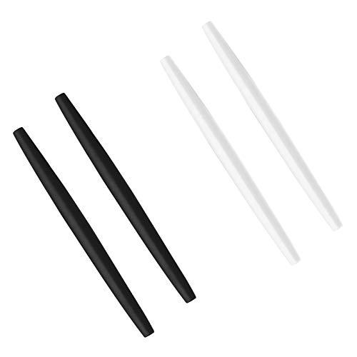 BlazerBuck Calcetines de repuesto para Oakley Glass OX3024 OX3085 OX3144 OX5055 OX5113 OX5120 OX3133 - Negro + Blanco