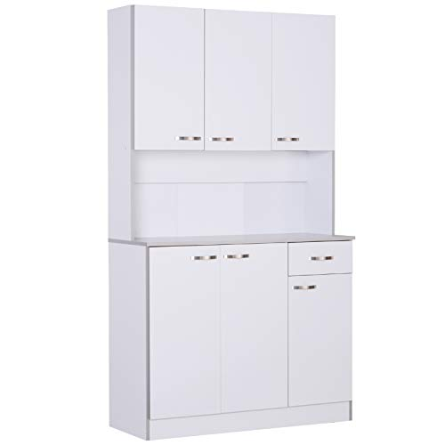 "HOMCOM 71"" Modern Freestanding Kitchen Buffet Hutch with Server and Storage"