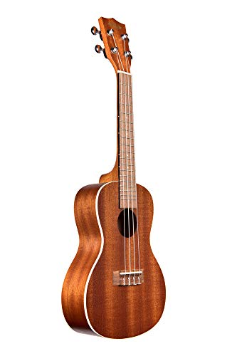 Kala Satin Mahogany Concert Ukulele with White Binding (KA-C),Brown