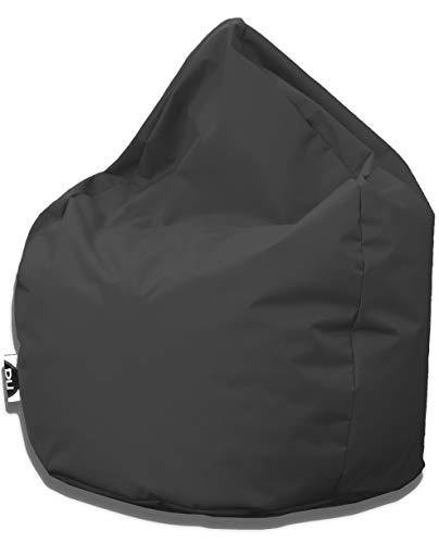 Patchhome Sitzsack Tropfenform - Anthrazit für In & Outdoor XL 300 Liter - mit Styropor Füllung in 25 versch. Farben und 3 Größen