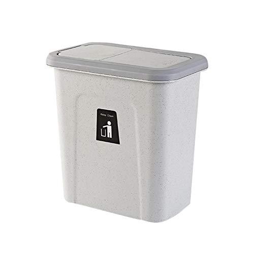 LCZMQRCLMZRQ Push-top prullenbak chef-kok opknoping automatisch retour pot deksel groente fruit schil kast kast keuken vuilnis opslag bin, lichtgrijs